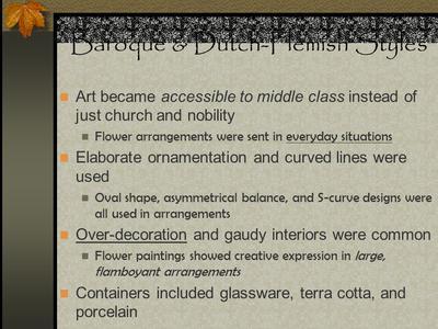 History Of Floral Design Timeline | Sutori
