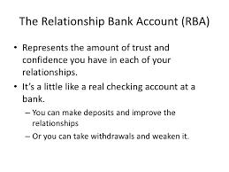 type of bank account relationships
