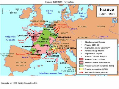Map Of France French Revolution.Period 3 1754 1800 Sutori
