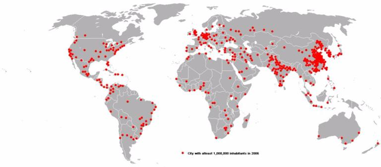 Dot Distribution map This map shows us how many... | Sutori on