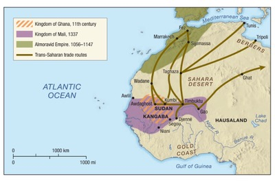 Islamic Expansion into Africa, Mali, and Mansa Musa | Sutori on kingdom of ethiopia map, ancient ghana map, medieval ghana map, empire of ghana west africa map, classical empires in africa map,