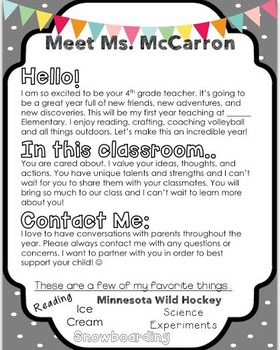 Letter To Parents From Teacher Beginning Of The Year.A Teacher S Guide To Starting School Sutori