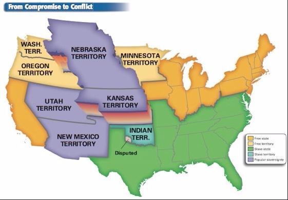 The Kansas-Nebraska Act was passed by the U.S.... | Sutori