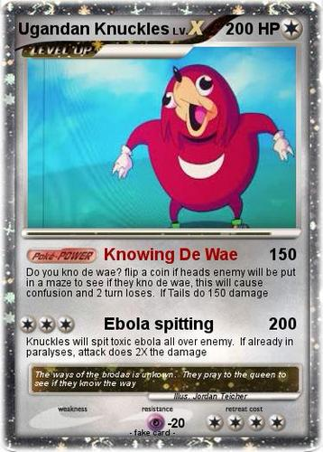 Ugandan Knuckles cards and other stuff | Sutori