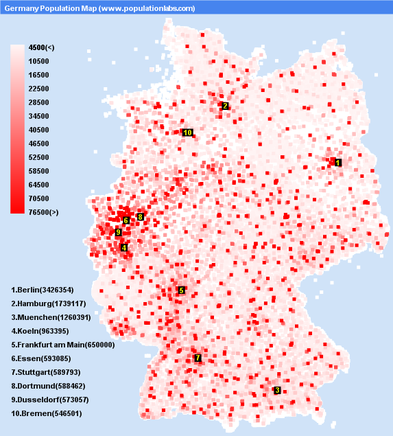 Show Map Of Germany.This Dot Distribution Map Shows Germany S Sutori