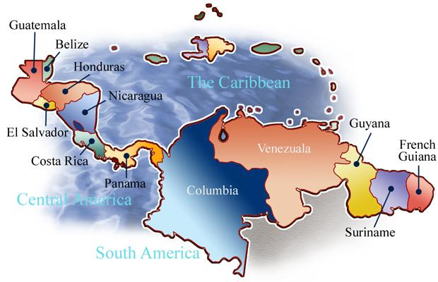 Caribbean South America Physical Geography | Sutori on