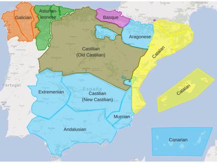 Dialectos De España Mapa.Los Dialectos De Espana Sutori