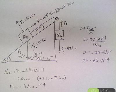 Solving Mass-Pulley on Inclined Plane | Sutori