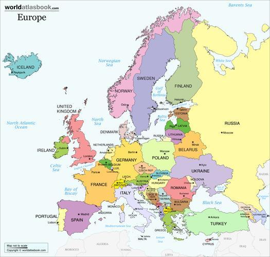 map of europe 2018 Map of Europe 2018 | Sutori