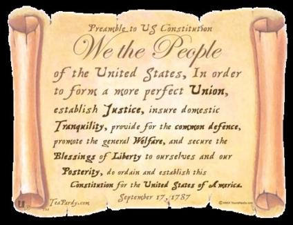 The Preamble To The Constitution Sutori