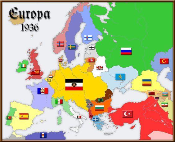 Map of Europe 1936 | Sutori