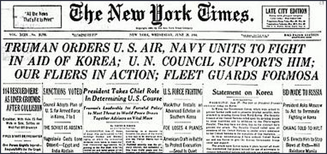 Image result for president truman orders air and naval forces into the korean war