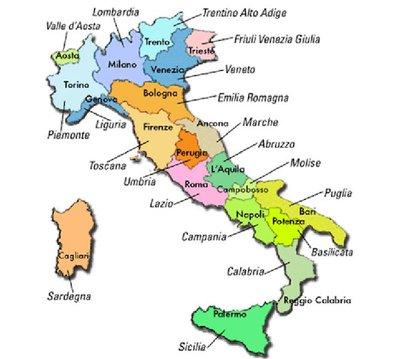 Cartina Italia Politica Con Capoluoghi Di Regione.L Italia Politica Sutori
