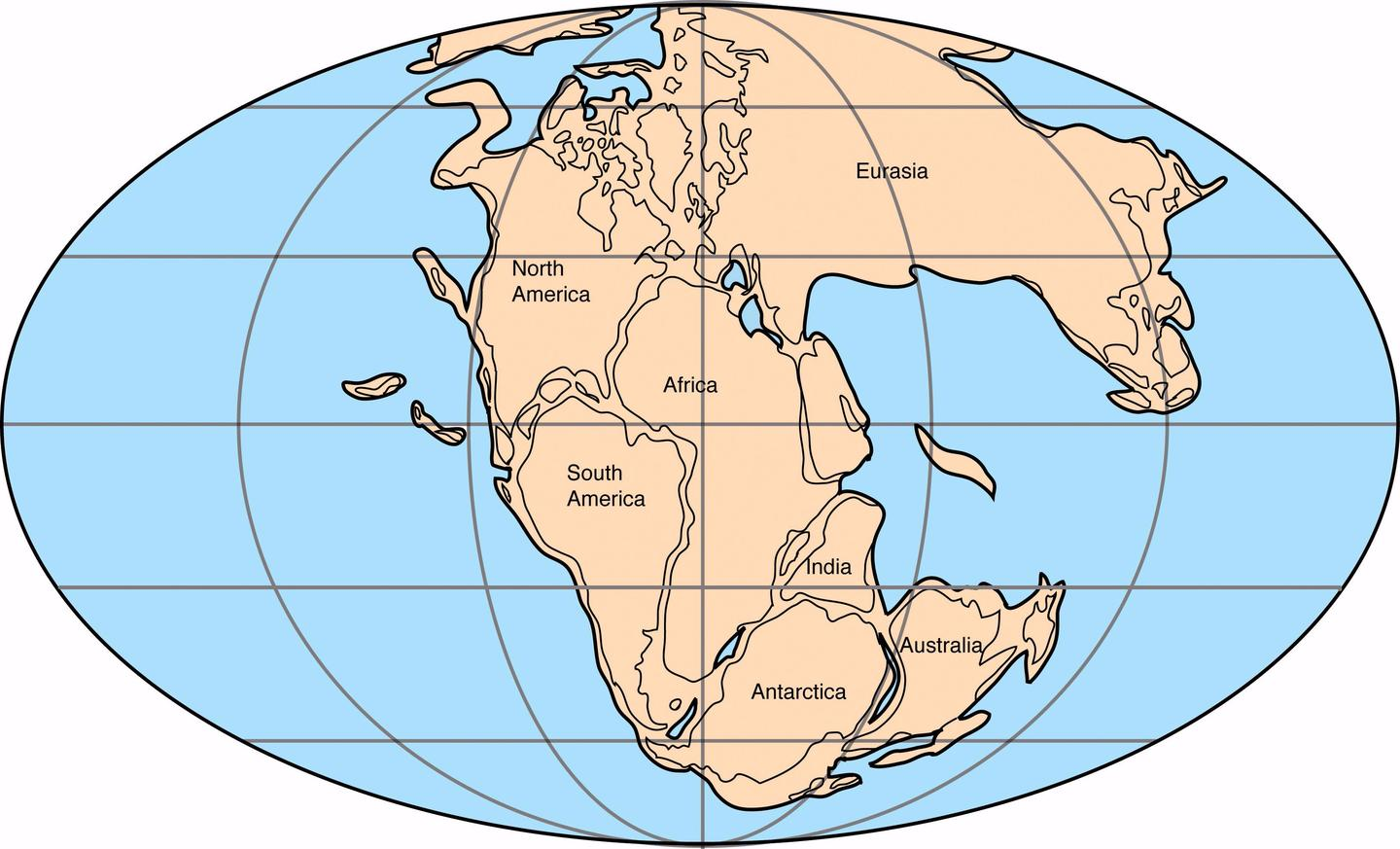 Map Of Australia 50 Million Years Ago.Story Of The Earth Sutori