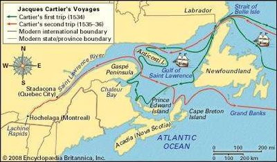 Jacques Cartier | Sutori on map of lake st. clair, map of appalachian mountains, map of 45th parallel north, map of ellicott creek, map of cazenovia creek, map of saint francis river, map of new france, map of chesapeake bay, map of saint johns river, map of saint lawrence seaway, map of straits of mackinac, map of saint lawrence gulf, st. lawrence river, map of st. lawrence canada, map of saint clair river, map of lake michigan, map of gulf of california, map of st. lawrence county ny, map of lake george, map of tonawanda creek,