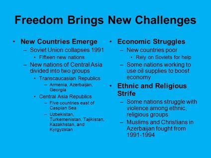 Central Asia Struggles | Sutori