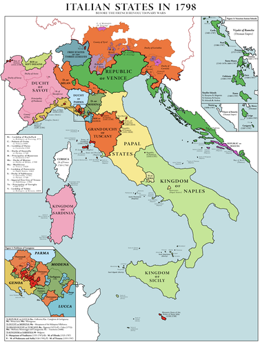The Unification of Italy: Italy pre-1815 - 1848   Sutori on map of italy middle ages, map of italy 1500, map of kingdom of naples and sicily italy, map of italy magna graecia, map of italy history, map of italy map, map of italy renaissance, map of italy sicily sardinia corsica,
