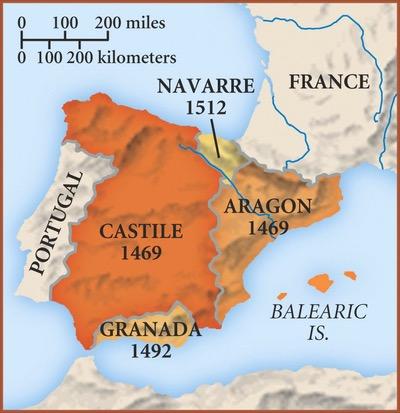 Map Of Spain 1492.Spanish Exploration Sutori