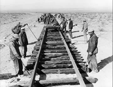 In railroad 1800s workers the The Iron
