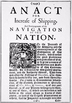 navigation act of 1660