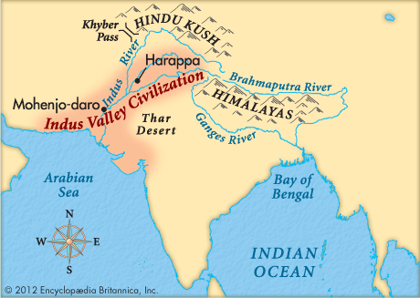 Indus River Valley Map This is the the indus river valley map. | Sutori