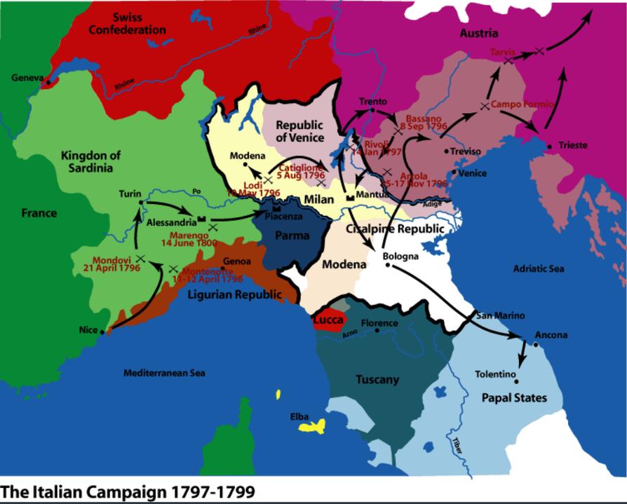 Cartina Italia 1810.Contesto Storico Dell Ottocento Sutori