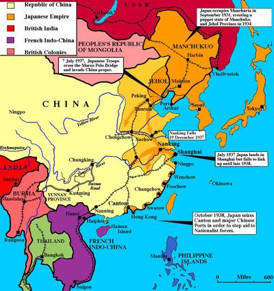 Map Of Asia 1930.Japanese Expansion In East Asia 1930 1941 Sutori