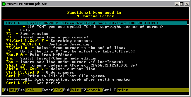Example Look Of MUMPS Programming