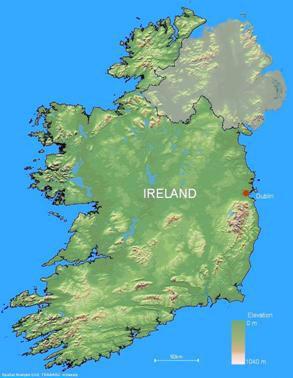 Physical Map Of Ireland.Physical Map Of Ireland The Map Above Provides A Sutori